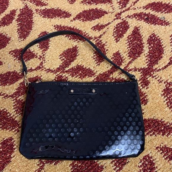 kate spade Handbags - Kate Spade Black Pouch with Strap
